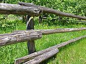 stock fotograf alt pfosten ranch zaun k9332169. Black Bedroom Furniture Sets. Home Design Ideas