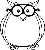 Schule clipart schwarz weiß  Clipart - schwarz weiß, weise, eule, lehrer k21401893 - Suche Clip ...