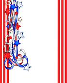 Stars And Stripes Border Clipart