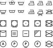 Clipart lessive lavage instruction ic ne symboles - Instructions de lavage symboles ...