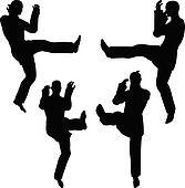 RoyaltyFree RF Karate Girl Clipart Illustrations