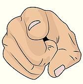 Clipart - hand, shows, ein, zeigefinger k21408085 - Suche ...