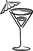 stock fotograf schwarz martini glas wei mit. Black Bedroom Furniture Sets. Home Design Ideas
