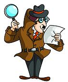 Clipart of Sleuth sleuth - Search Clip Art, Illustration Murals ...