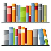 Bücherreihe clipart  Clipart - buecher, reihe, weiß, hintergrund k18366911 - Suche Clip ...