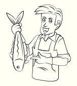 Clipart - poissonnier k21785071 - Recherchez des Clip Arts ...