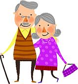 Old couple Clipart Royalty Free. 1,567 old couple clip art ...
