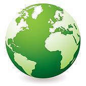 green earth globe Green Globe Clip Art