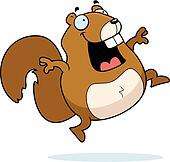 Clip Art of Squirrel Hoarding k1741886 - Search Clipart ...