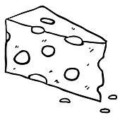 Käse Clipart Schwarz Weiß
