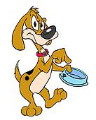 Drawing of Hungry Dog k20451313 - Search Clipart ...