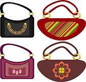 Clipart of Women handbags k16004272 - Search Clip Art ...
