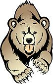 Cute grizzly bear clipart - photo#27
