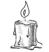 clip art kerzenleuchter mit brennender kerze skizze k19675966 suche clipart poster. Black Bedroom Furniture Sets. Home Design Ideas
