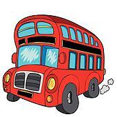 Clipart - london, bus k5970630 - Suche Clip Art ...