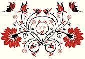 stock bilder rot und schwarz schmetterling blume k6528176 suche stockfotografie. Black Bedroom Furniture Sets. Home Design Ideas