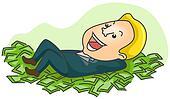 Drawings of cartoon rich man k15541984 - Search Clip Art ...