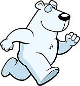 Clip Art Of Polar Bear Running K4646989