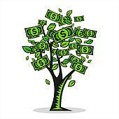 Money tree Clipart EPS Images. 889 money tree clip art vector ...