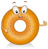 Bagel illustrations and clipart