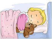 Enfant endormi - Methode pour faire dormir bebe dans son lit ...