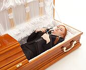 Redd Foxx Open Casket http://www.fotosearch.com/photos-images/coffin.html