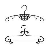 Kleiderständer clipart  Stock Foto - haushalt ikonen, kleidung, kleiderständer, kleidung ...