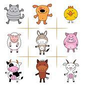 Clipart of farm animals k5090381 - Search Clip Art, Illustration ...
