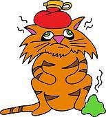 sick cat clip art eps images 209 sick cat clipart vector