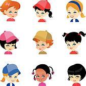 Dessin Petite Fille Banque D'Images, Vecteurs Et