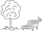 Park Bench illustrations and clipartPark Bench Clipart Black And White