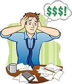 Stock Illustration of Demanding Money from Poor Man x27757977 ...