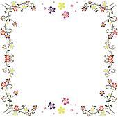 clipart rahmen blumen freigestellt k23881801 suche clip art illustration wandbilder. Black Bedroom Furniture Sets. Home Design Ideas