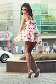 Wind blowing her skirt u29102709 search stock photography posters
