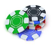 Clipart of Poker gambling chips in pile k5874621 - Search Clip Art ...