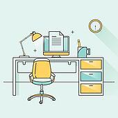 creative furniture icons set flat design. summer travel icons set in flat design creative furniture topic b