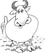 Clipart of Matador and Bull k6001742 - Search Clip Art ...