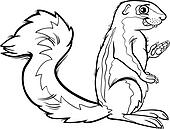 Clipart of xerus animal cartoon coloring page k20474121 ...