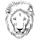 Löwe Gezeichnet