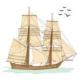 Clipart of tall ship k6184171 - Search Clip Art, Illustration ...