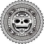 Clipart stylis divinit de azt que k6220711 recherchez des clip arts des illustrations - Dessin azteque ...