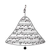 Clip Art of Music bell k17313569 - Search Clipart, Illustration ...