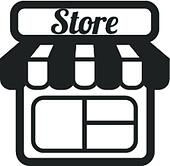 Supermarkt gebäude clipart  Clipart - kaufmannsladen, supermarkt, vektor, heiligenbilder ...