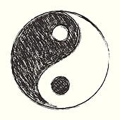 Clipart of yin yang ro yinyang c search clip art for Meuble mural yin yang