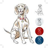 Clip Art of Redbone Coonhound k6783739 - Search Clipart ...