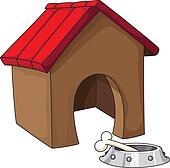 Drawings Of Dog Collar Dog House Ribbon Bowl Dog Food