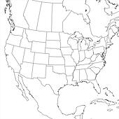 Blank United States Map Lower 48