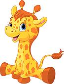 Clipart vitello giraffa con arco k6303430 cerca - Cartone animato giraffe immagini ...