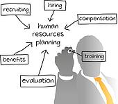 Clipart of HR managing human resources business plan k7337613 ...