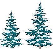 Clipart - Fur-tree, mit, schnee k5058080 - Suche Clip Art ...